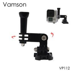 Vamson for GoPro Accesorios Three Way Adjustable Pivot Arms With Chest Belt For GoPro Hero4 3+ 3 for Xiaomi for SJ4000 VP112