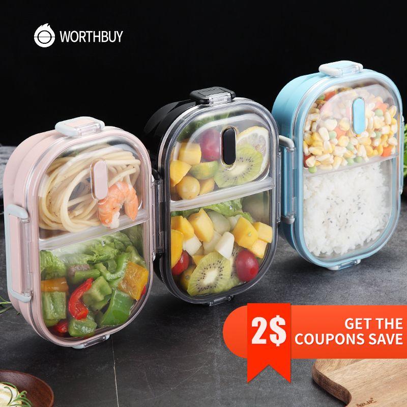 WORTHBUY Japonais Portable Boîte À Lunch Pour Enfants École 304 Boîte à Bento En Acier Inoxydable Cuisine étanche Alimentaire Contenant Alimentaire boîte