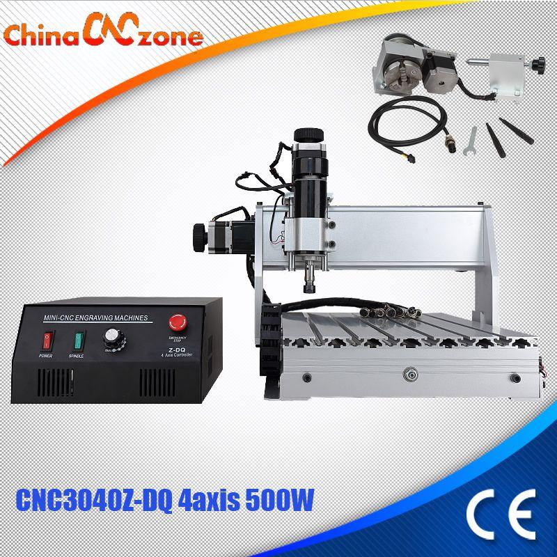 CNC 3040Z-DQ 4-axis mini CNC fraiseuse Graveur Gravure Fraisage De Forage Machine De Découpe 500 W Fabricant Fournisseur