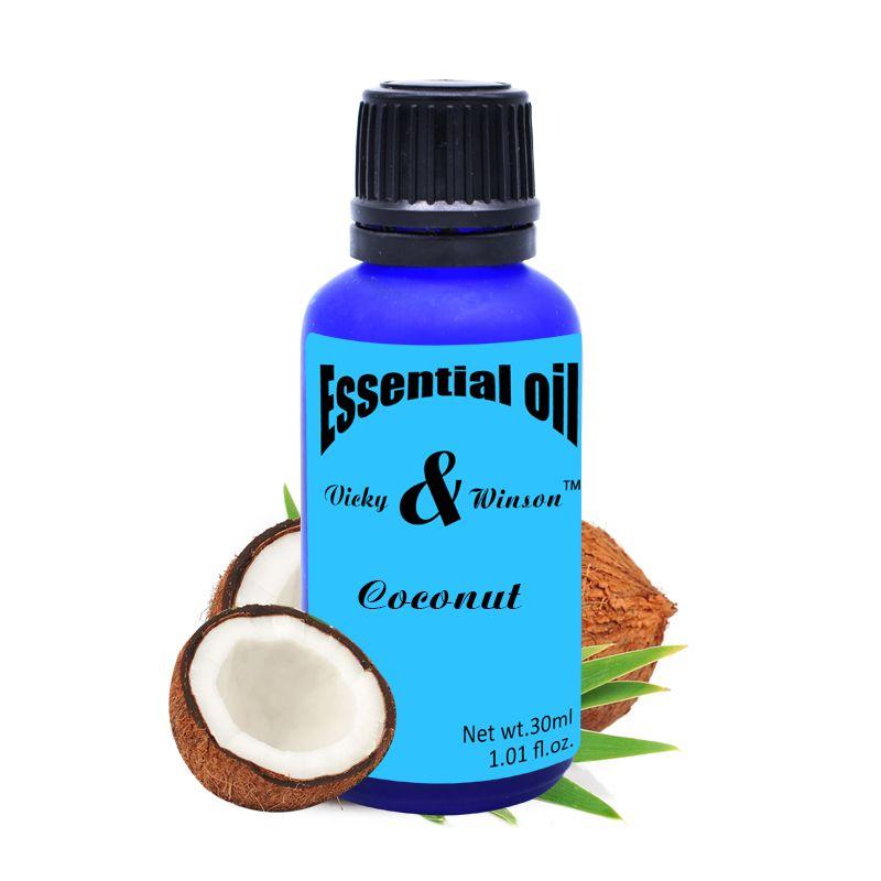 Vicky & winson huiles essentielles aromathérapie coco huile de noix de coco vierge orgnique 100% huile naturelle de soin de la peau de noix de coco huile de soin des cheveux VWXX24