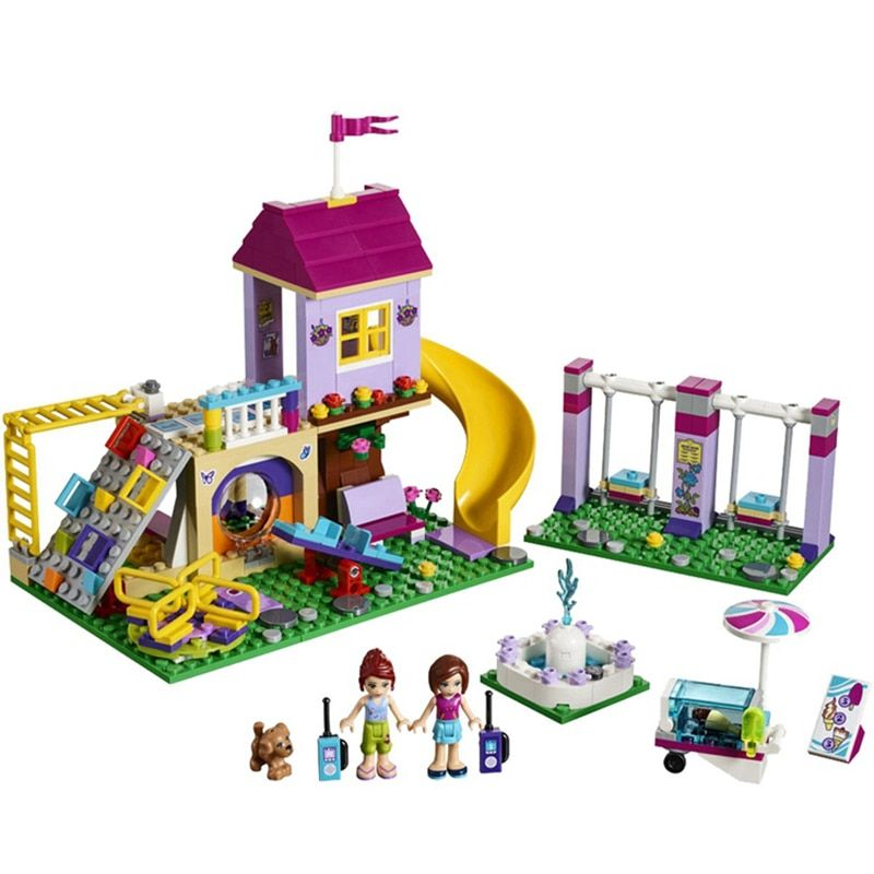01050 Heartlake <font><b>City</b></font> Playground Building Blocks Bricks Education Sets Toys for Girls Gift Compatible with Legoeing Friends 41325