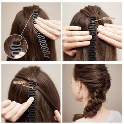 3 Couleurs Cheveux Tressage Outil Poisson Os Braider Rouleau Cheveux Twist Styling Bun Maker Cheveux Armure Tresse Rouleau Bande Accessoires