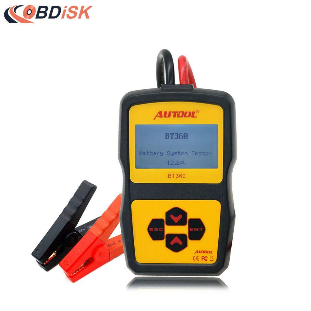 Autool BT-360 Battery Tester BT360 car battery tester BT 360 tester Updated from bst-100 battery tester