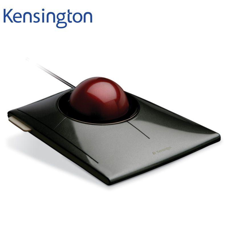 Kensington Original SlimBlade Media Control Trackball Optical USB Mouse for PC or Laptop with Large Ball K72327