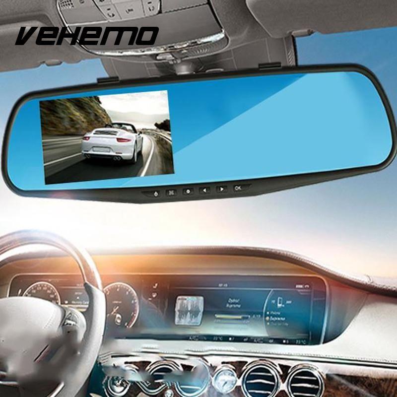 720P Car DVRs Camera Registrator Dash Cam 2.8 inch with Rearview Mirror Digital Video Recorder G-Sensor Night Vision Camcorder
