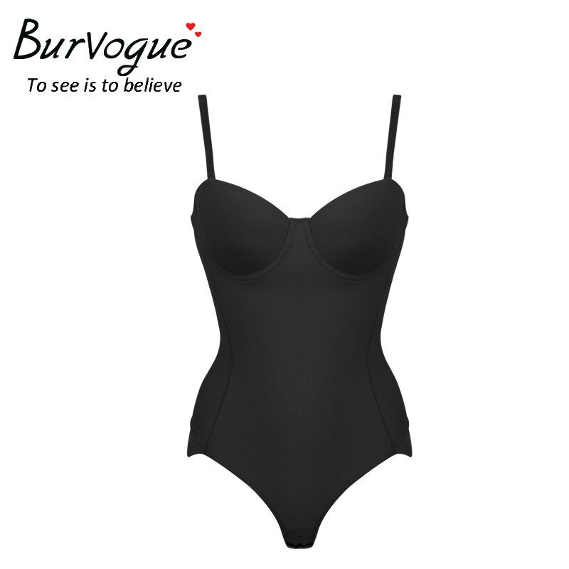 Burvogue Hot Body Shaper Push Up Shapewear <font><b>Waist</b></font> Trainer Over-bust Shaper Underwear for Women Slimming Bodysuit Seamless Shapers