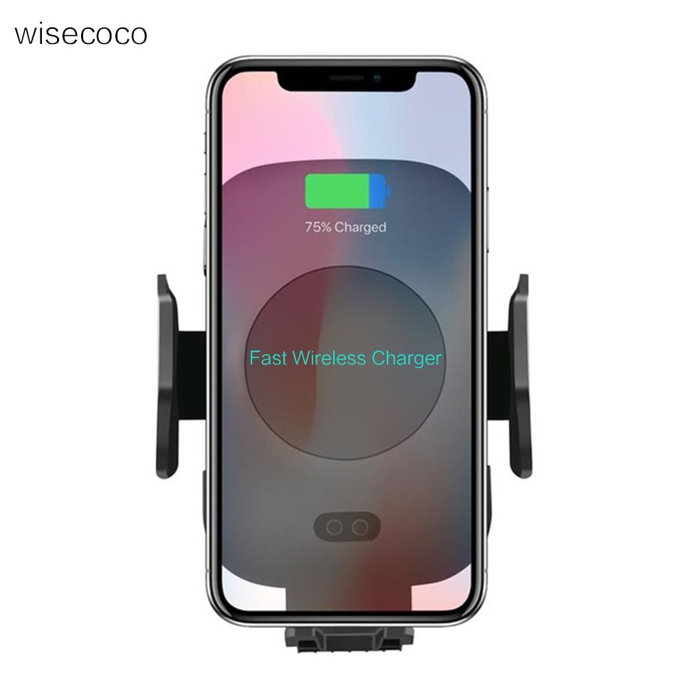 For Samsung S9 S8 plus S7 s6 edge Fast Wireless Car Charger Automatic Induction Vent Phone Holder Cradle for iPhone 8 8 PlusX