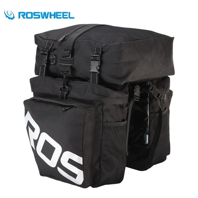 ROSWHEEL Fahrrad Packtaschen Tasche Fahrrad Lagerung Gepäck Taschen Wasserdicht 3 in 1 Hinten Zyklus Rear Seat Bike Stamm Träger Rack taschen