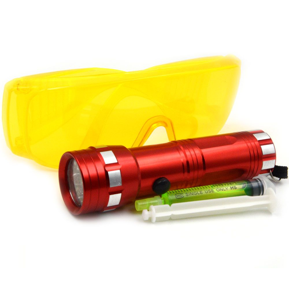 3-in-1 Auto Air Conditioned Repair Tool Kit Leaks Flashlight R134a R410 R12 Car Fluorescent Oil with UV Glasses HVAC
