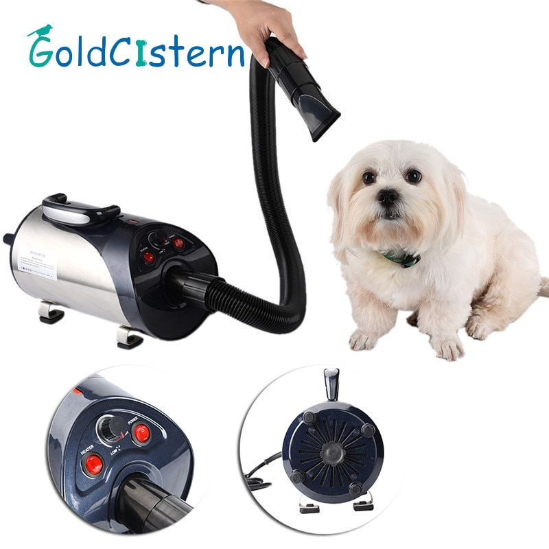 2800W Quiet Hair Dryer With Nozzle for Pets Dog Cat Pet Force Dryer Heater EU/UK/US 1PCS