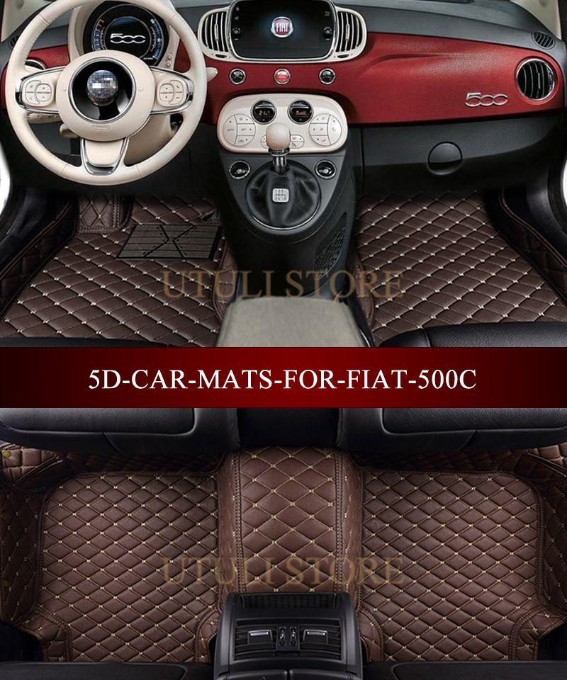Auto fußmatten für FIAT 500 500C 2007-2017 3D custom fit auto teppiche fußmatten liner