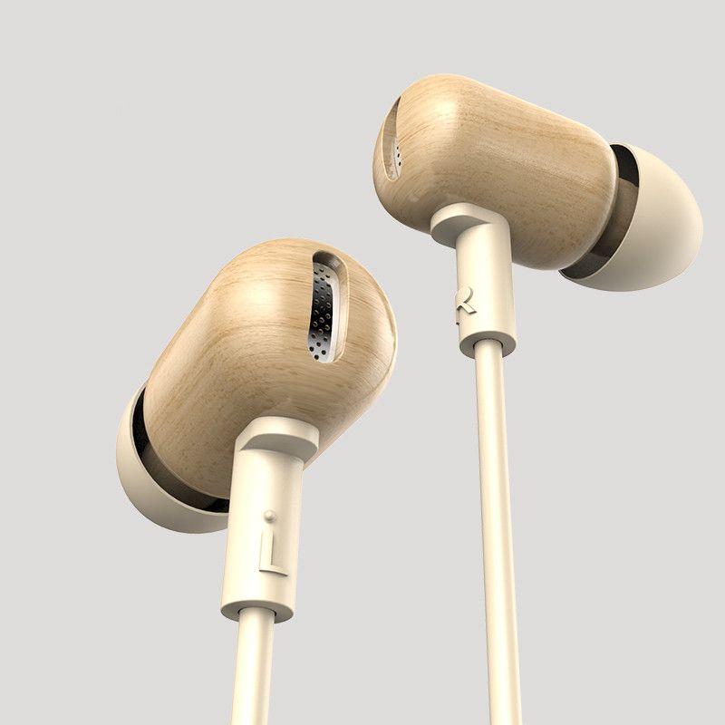 New Original DZAT DF-10 3.5mm In Ear Earphone DIY Wooden DJ Headset Pure Wood Heavy Bass Music HIFI Earbuds