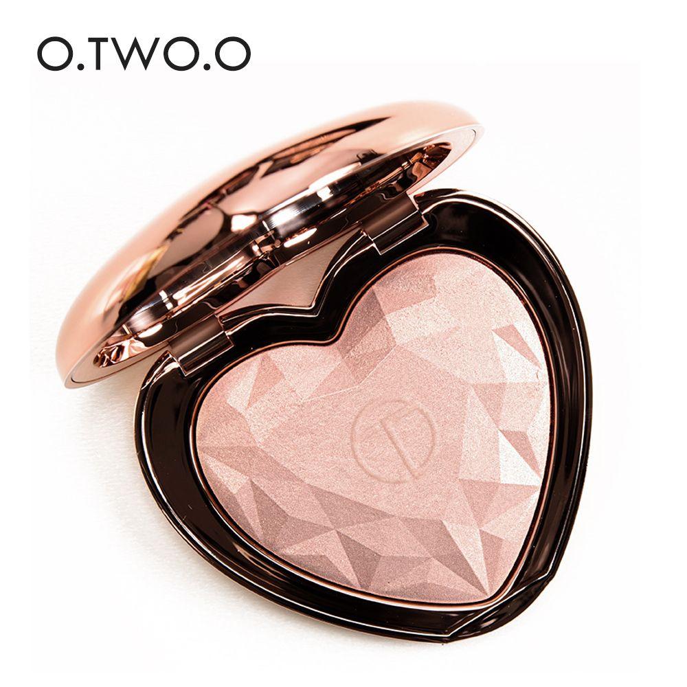 O. DEUX. O 2018 Nouveaux Produits Chauds Coeur Forme Palette Bronzer et Surligneur Poudre pressée Shimmer Maquillage 4 Couleurs Choisir Cosmétique