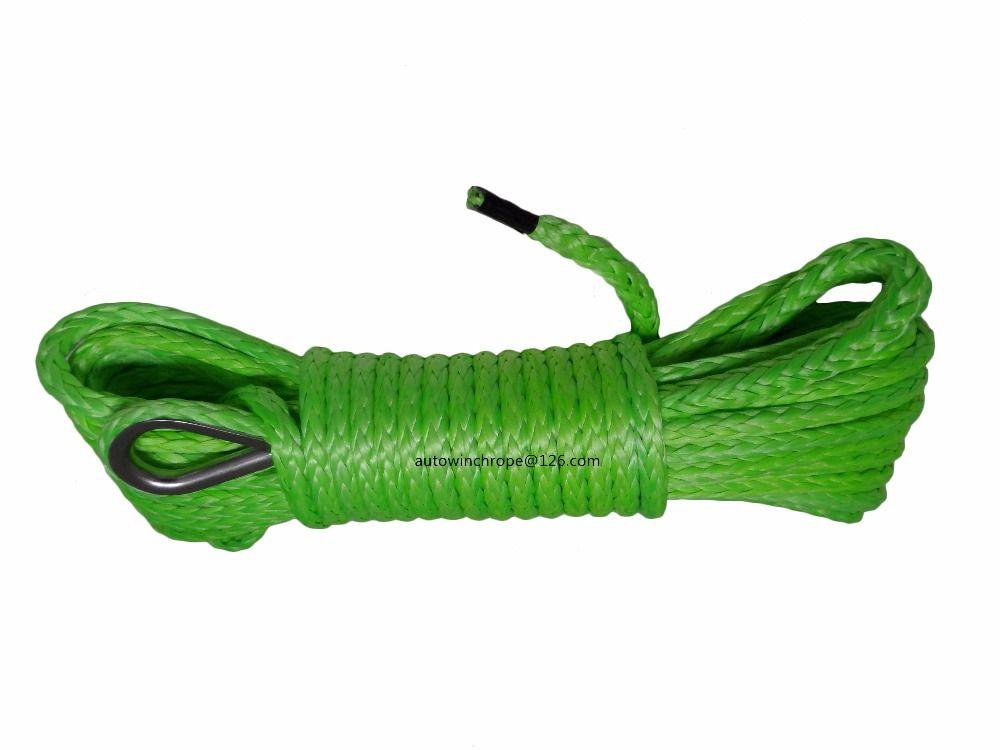 Grün 6mm * 15 mt Synthetische Seil, ATV Windenseil, Kevlar Windenseil 6mm, ATV winde Mithelfer, Plasma Seil