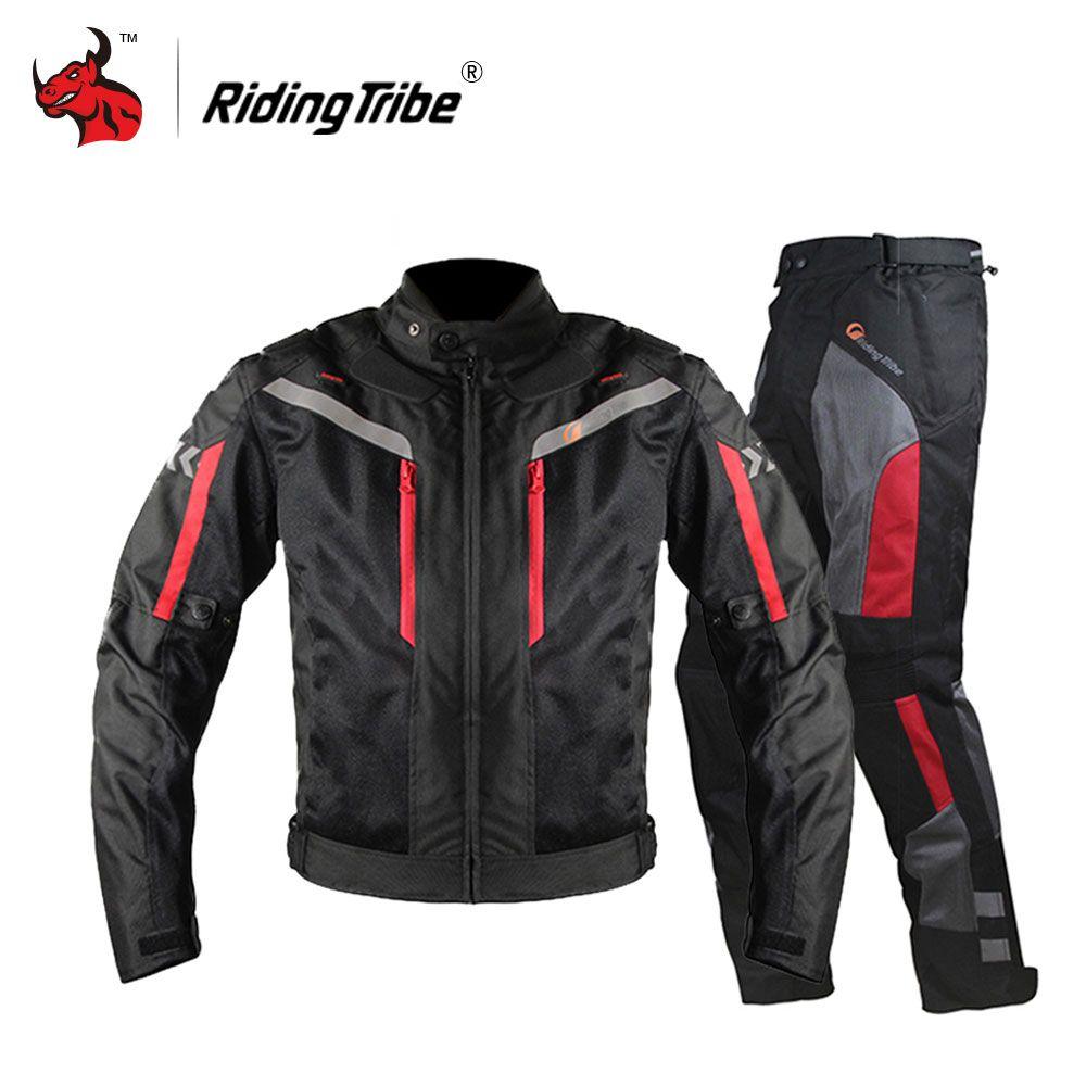 Riding Tribe Motorcycle Jacket Men Breathable Motorcycle Pants Moto Jacket Windproof Motorbike Cruiser Touring Clothing Raincoat