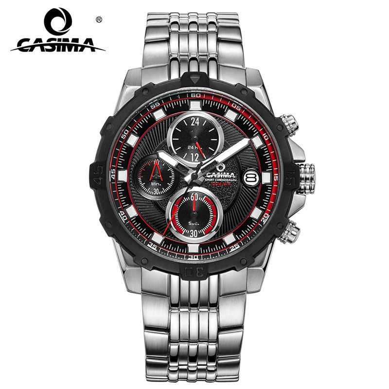 Fashion Luxury Brand Watches Men Casual Charm Luminous Sport Multi-function Men's Quartz Wrist Watch Waterproof 100m CASIMA#8306