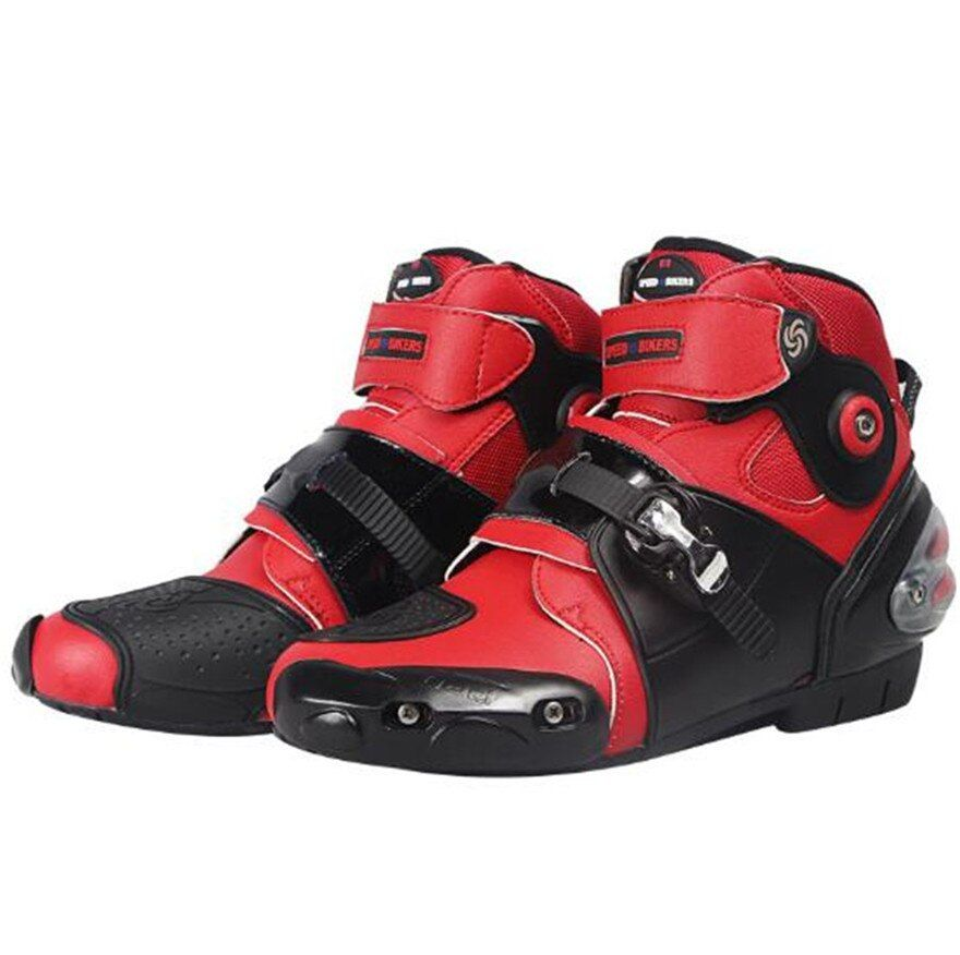 Racing Pee Youth Boys Off-Road/Dirt Bike Motorcycle Boots - Black/Silver / Size 12 Motocross Boot - White - Size 8