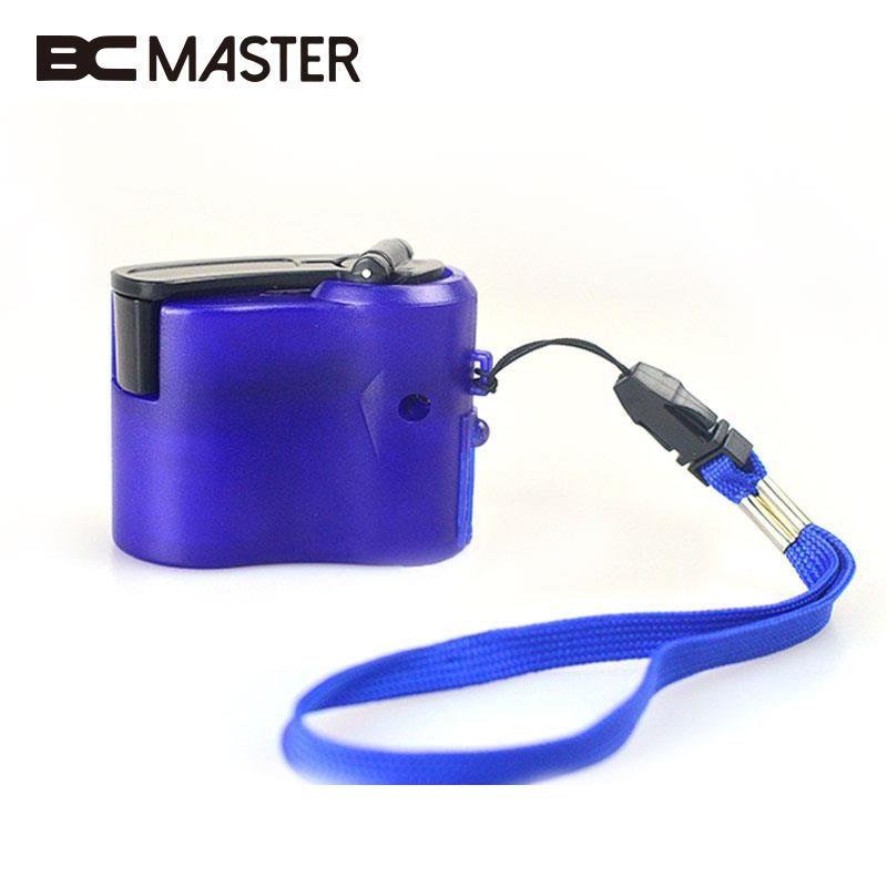 BCMaster 2017 Neue Telefon Handkurbel Dynamo Ladegerät Lade USB Hände Blau Notfall Dynamos USB Hand Dynamo Ladegerät