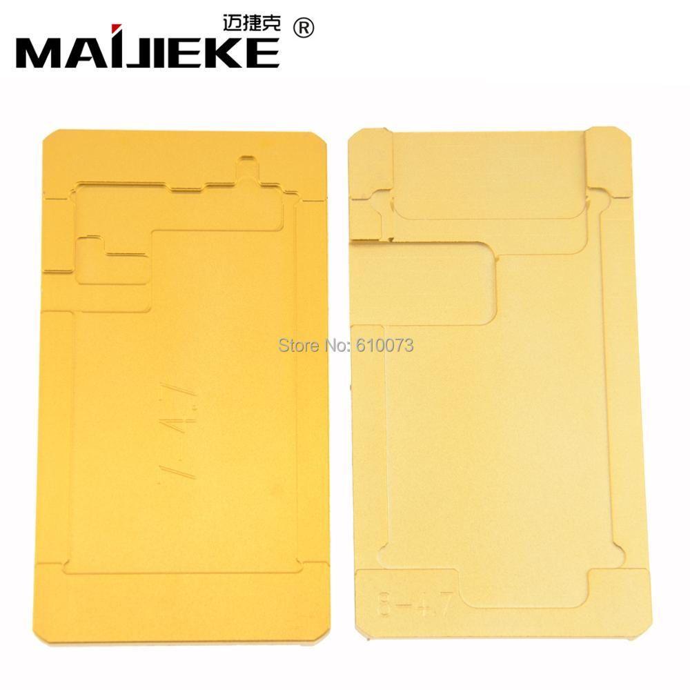 Polarisator form für iphone 8 7 6 s 6 plus LCD entfernen polarisator film kleber uv-kleber formhalter OCA Form für bildschirm reparatur