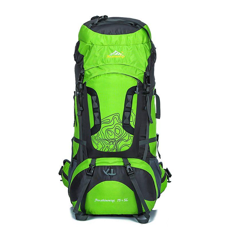 Hohe Qualität Backpacker Freienberg Rucksack 80 Liter Großen Kapazität 70 + 5L Klettern Tasche Wasserdichte Wanderrucksäcke