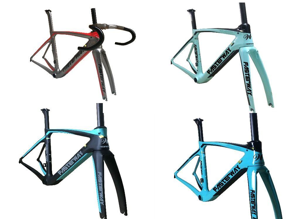 Fasterway XR4 taiwan made carbon rahmen rennrad T1100 UD carbon fahrrad frameset: carbon Frameset + Sattelstütze + Gabel + Klemme + Headset