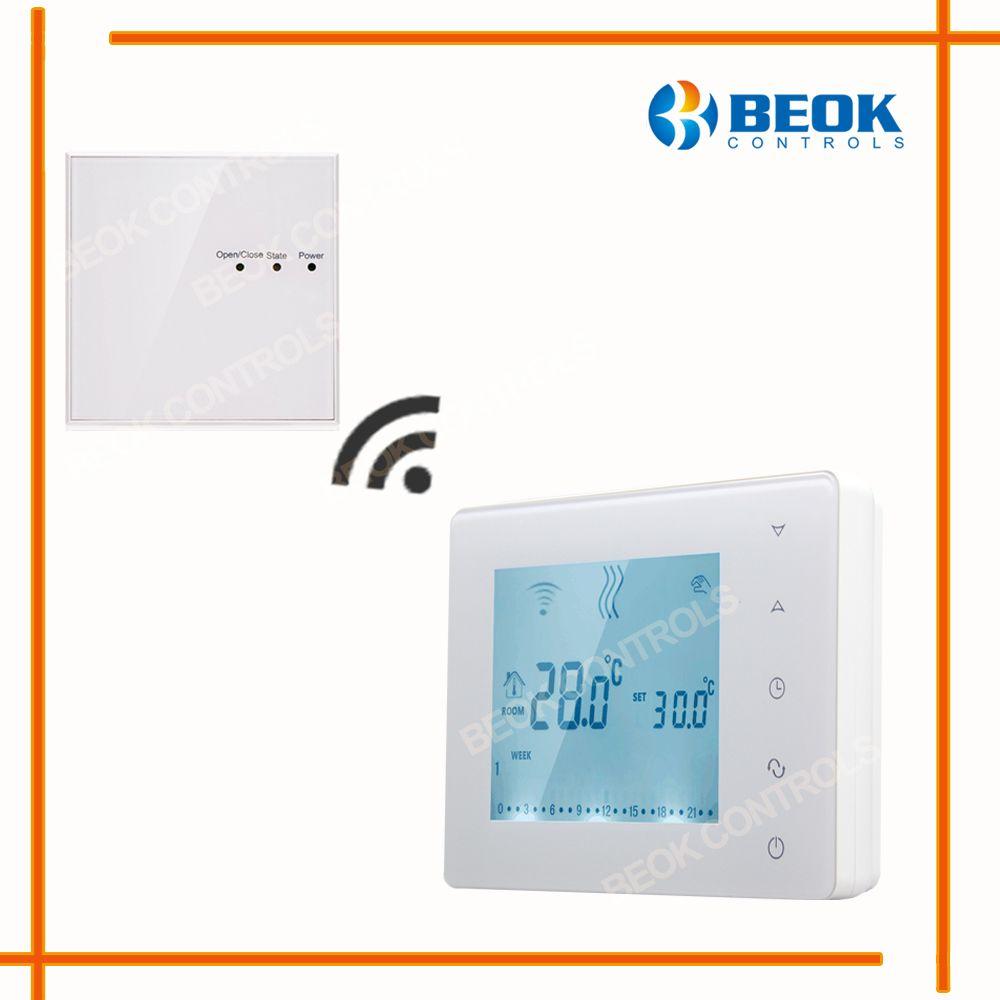 Thermostat Programmable de chaudière à gaz d'écran tactile sans fil de BOT-X306 pour le régulateur de température de chauffage de pièce serrure d'enfant de régulateur