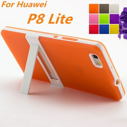 Ультра-тонкий ПК Рамки Huawei P8 Lite 5.0 дюйма мягкий чехол ТПУ силиконовый чехол для Huawei Ascend P8 lite Матовый вид Fundas
