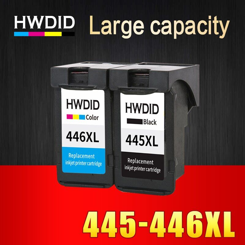 HWDID PG-445 CL-446 Refilled ink cartridge replacement for Canon pg445 pg 445 cl446 for PIXMA MX494 MG2440 2540 2940 MX494 2840