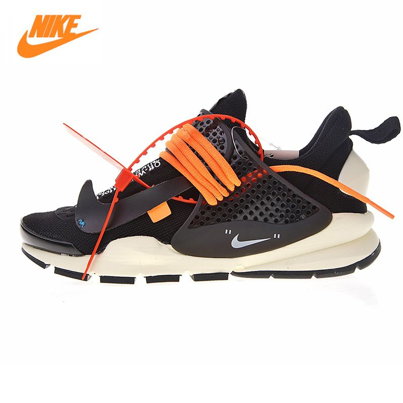 Nike La Nike Sock Dart X Off-White Men's and Women's Shoes, Black/White, Shock Absorption Breathable 819686 053 819686 058