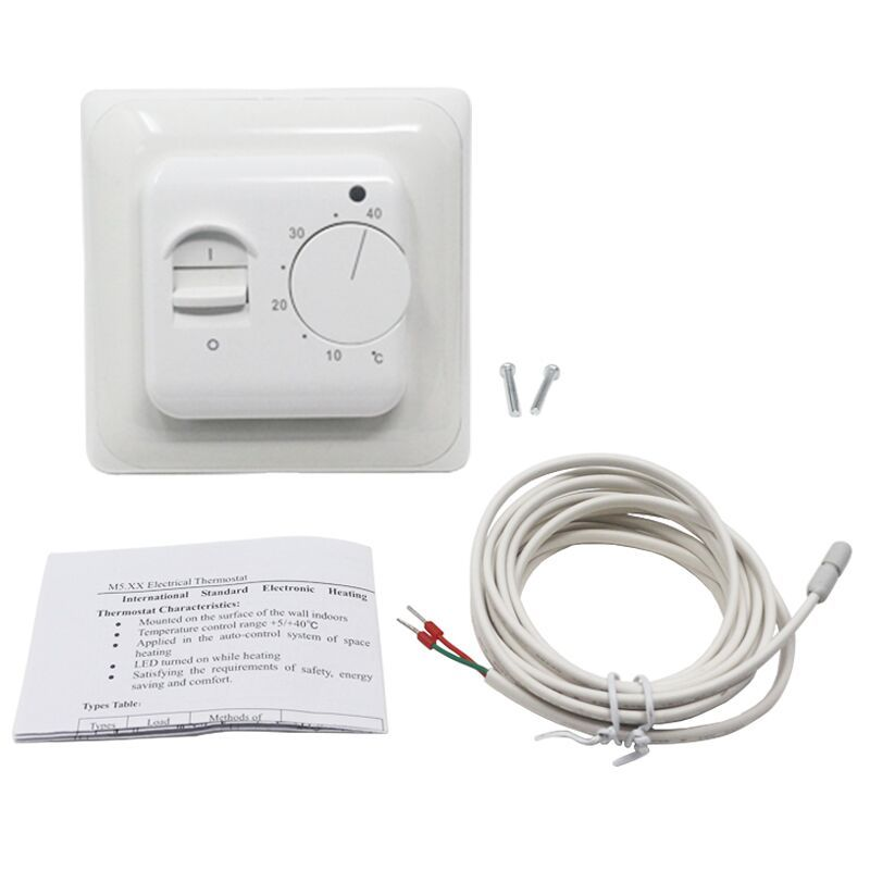 Electric Floor Heating Room Thermostat Temperature Controller Warm Regulator 220V 230V 16A NTC Sensor Programmable Universal