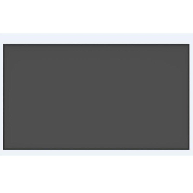 92 Inch 16:9 HDTV 4K 3D Anti-Light Rejection Black Crystal Ultra Thin Fixed Frame Projector Screen for Long Focus Projector
