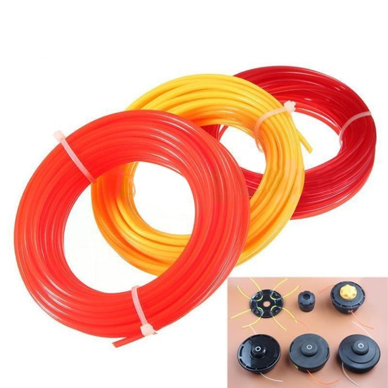 15m*2.4mm Nylon Strimmer Line Garden Cord Wire String Grass Trimmer Line For Robot Lawn Mower Grass Cutter Trimmer Line