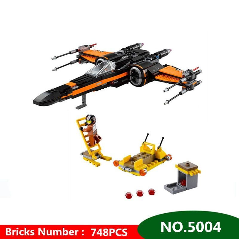 748pcs Diy Poe's X-wing Fighter Building Blocks Assembled bricks Compatible with Legoingly Star Wars X Wing Toys For Children
