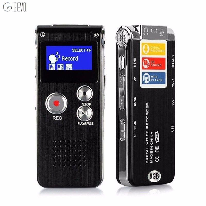 Hohe qualität Stimme Recordering Stift LED Usb Digital Sauberen Klang Micro Audio Recorder 8 GB Tragbare Diktiergerät Mp3-player Recorder