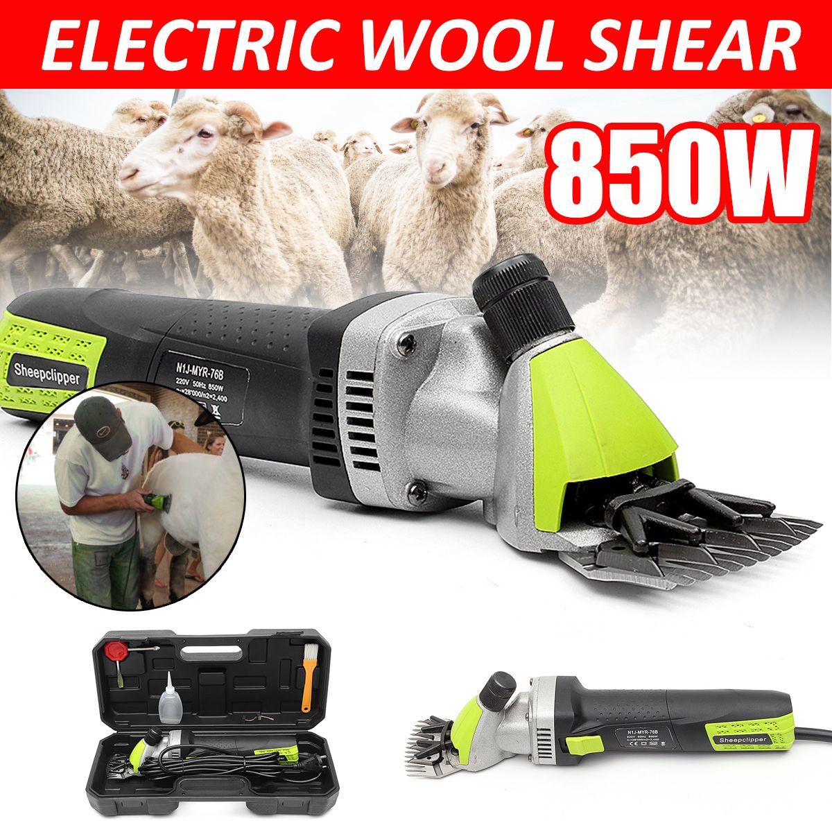 220V 850W Electric Wool Shearing Supplies Sheep Goats Clipper Farm Animal Electric Trimmer Tool for Sheep Shearing Machine