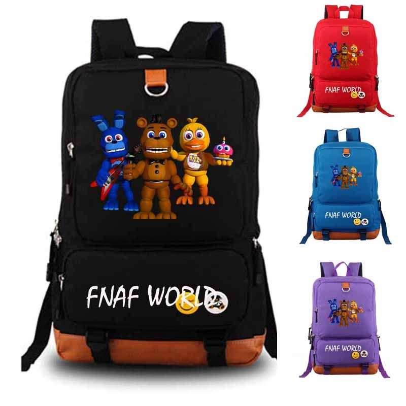 Five Nights At Freddy's Backpack fnaf world student school bag Notebook backpack Leisure Daily backpack