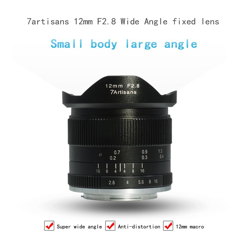 7artisans 12mm F2.8 Camera Lens Ultra Wide Angle Micro Single Prime Lens for Canon for Sony for Oympus E-mount Lens Macro Len