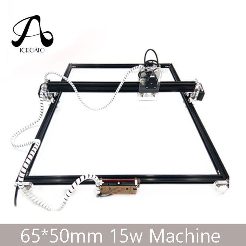 Freies Verschiffen 15 watt Laser Maschine 65*50 cm CNC Bearbeitung Laser Gravur Maschine, DIY Laser Schneiden Maschine, Holz CNC Router