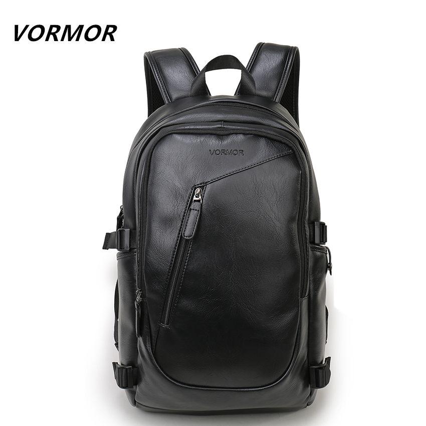 2017 VORMOR Brand waterproof 15.6 inch laptop backpack men leather backpacks for teenager Men Casual Daypacks mochila male