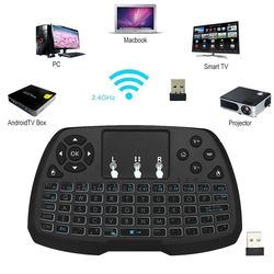 2.4GHz Wireless Gaming Keyboard Touchpad Mouse Handheld Remote Control Mice for Android TV BOX Smart TV PC Notebook PC Laptop