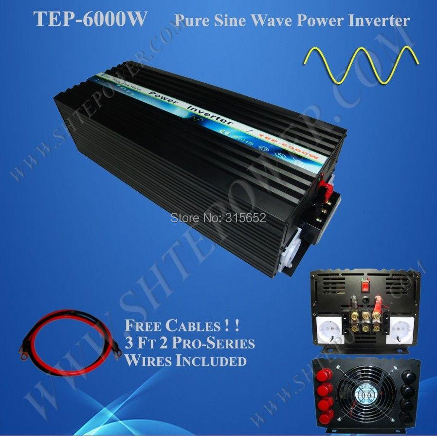 6000 Watt DC 12 V zu AC 230 V Reine Sinuswechselrichter 6kw
