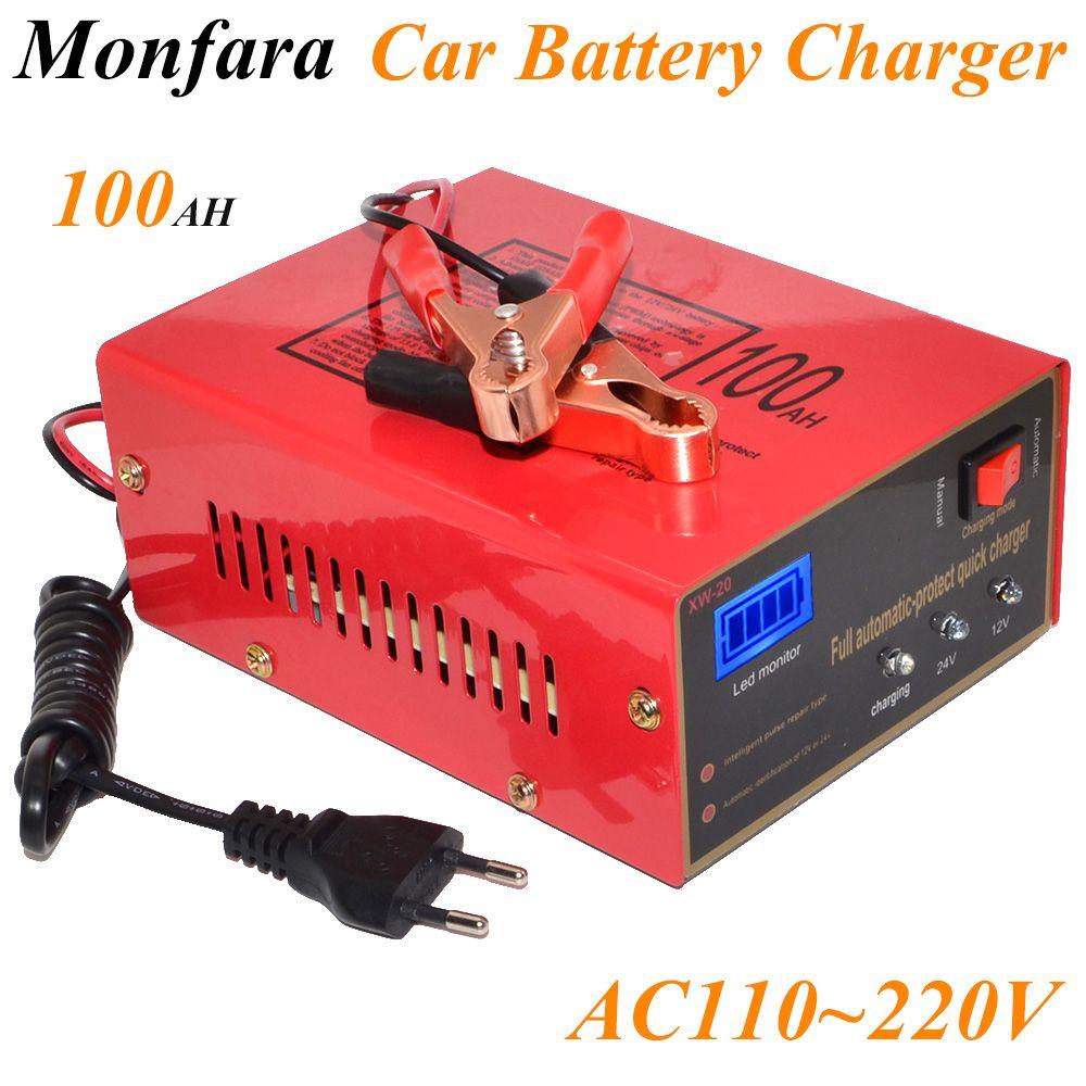 12V/24V 10A 6-105AH Universal Car Battery Charger Motorcycle Battery Charger Lead Acid Battery Charger Free Shipping 12002755