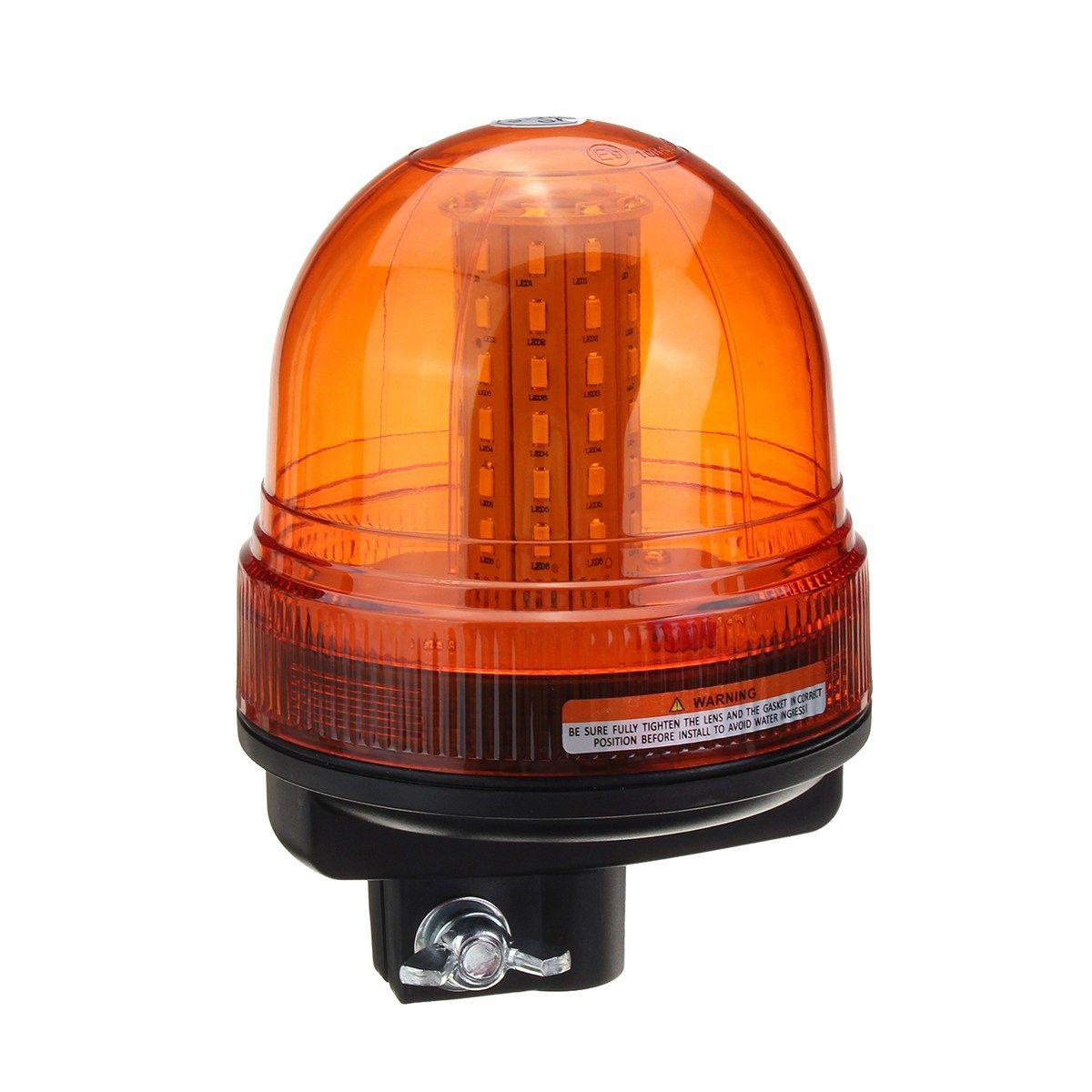 NEW Safurance 60 LED Rotating Flashing Amber Beacon Flexible Tractor Warning Light Traffic Light Roadway Safety