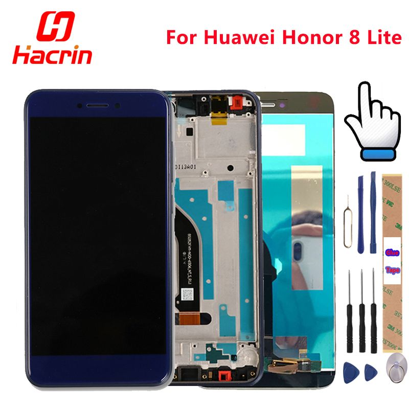 Huawei Honor 8 <font><b>Lite</b></font> LCD display Touch Screen Test Good Digitizer Assembly Replacement For Huawei Honor 8 <font><b>Lite</b></font> 5.2 Inch