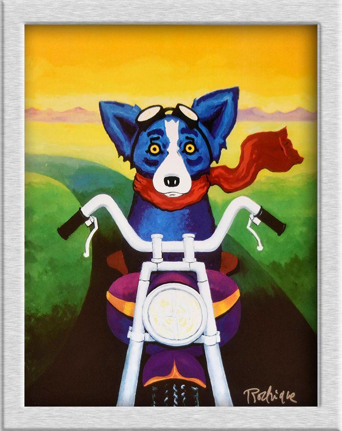 Изысканный Джордж Rodrigue Blue Dog HD печати масляной живописи настенная живопись Книги по искусству изображение для Гостиная картина без рамки