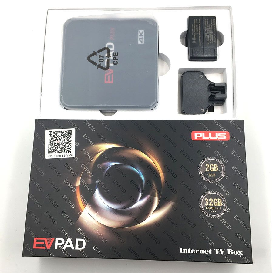 Official Authorization TV Box Evpad Plus Oversea Version 8 Core Wifi 32G More Than 1000 Channels For Oversea Chinsese