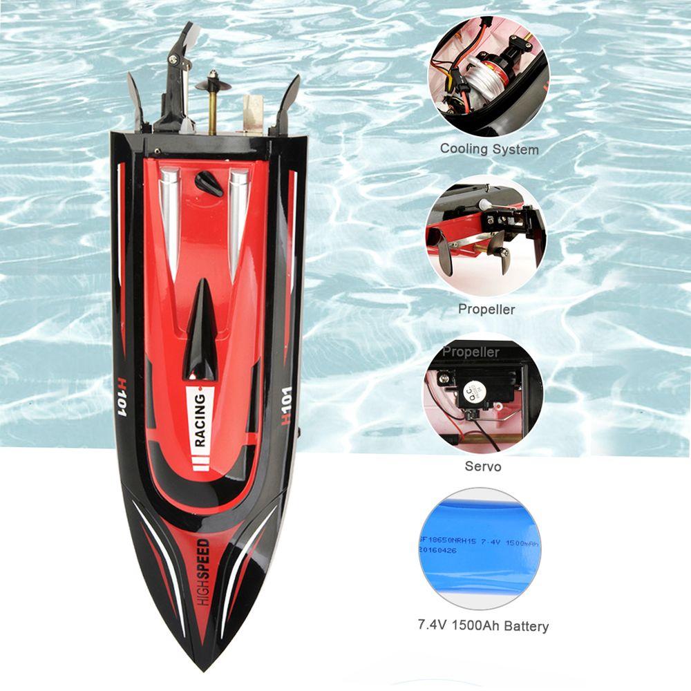 Hohe Geschwindigkeit RC Boot H101 2,4 GHz 4 Kanal 30 km/h Racing Fernbedienung Boot mit Lcd-bildschirm Für kinder spielzeug Weihnachten Geschenke