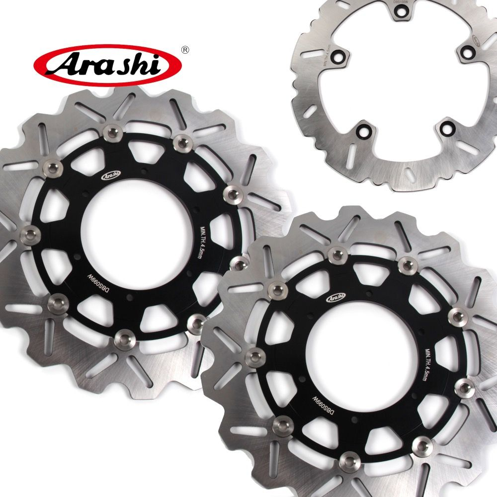 ARASHI F 800 GS CNC Front Rear Brake Rotors Disc FIT BMW F800GS 2015 2014 2013 2012 2011 2010 2009 F 800GS ADVENTURE 2013-2015