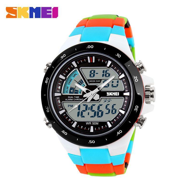 2016 Women Sports Watches Waterproof Fashion Casual Quartz Watch Digital Analog <font><b>Military</b></font> Multifunctional Women's Wrist Watches