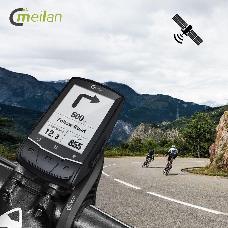 Meilan M1 Bike GPS fahrrad Computer GPS Navigation BLE4.0 tacho Verbinden mit Cadence/HR Monitor/Power meter (nicht enthalten)